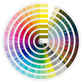 παλέτα χρωμάτων pantone — Φωτογραφία Αρχείου