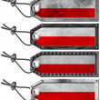Poland Flags Set of Grunge Metal Tags - 