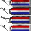 Netherlands Flags Set of Grunge Metal Tags — Stock Photo