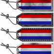 Netherlands Flags Set of Grunge Metal Tags - 