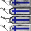 Finland Flags Set of Grunge Metal Tags - Foto de Stock  