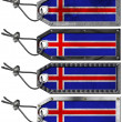 Iceland Flags Set of Grunge Metal Tags - 