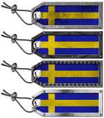 Sweden Flags Set of Grunge Metal Tags — 图库照片