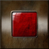 Grunge Metallic and Red Background — Stock Photo