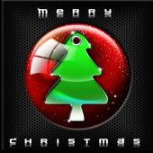 Technological Green Christmas Tree — Stock Photo