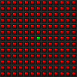 Red Squares - One Green - Background — Stockfoto