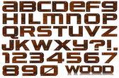 Grunge metalen letters en cijfers — Stockfoto