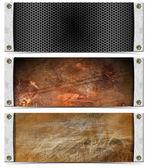 Set of Metallic Headers — Stock Photo