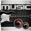 Electric Guitar Music Background - Zdjęcie stockowe