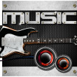 Electric Guitar Music Background — Stock Photo