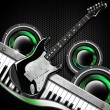 Black Guitar Hexagons Background - Foto Stock