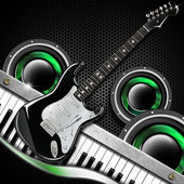Black Guitar Hexagons Background — Stock Photo