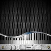 Šestiúhelníky hudba klavírní pozadí — Stock fotografie