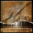 Stock Photo: Brown Grunge Music Background