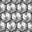 Metallic Hexagons Background — Foto de Stock