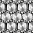 Metallic Hexagons Background — Stok fotoğraf