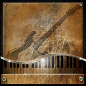 Brown Grunge Music Background — Stock Photo