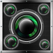 Sound System Background - Foto Stock