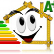 Energy Saving - House Smiling Meter Tool - Foto Stock
