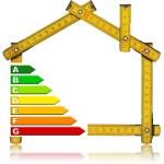 Energy Saving - House Meter Tool — Stock Photo