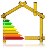 Energy Saving - House Meter Tool — Stock Photo