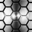 Metal Modern Background with Hexagons - Foto Stock