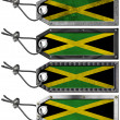 Jamaica Flags Set of Grunge Metal Tags — Zdjęcie stockowe