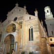 Verona Cathedral at Night- Veneto Italy — Stock Photo