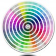 Stock Photo: Pantone Color Palette - blur circle