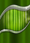 Metal and Green Organic Background — Stock Photo