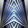 Blue and Metal Geometric Background — Foto Stock