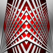 赤と金属の幾何学的な背景 — ストック写真