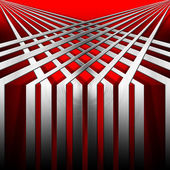 Red and Metal Geometric Background — Stock Photo
