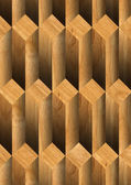 Parallelepipeds Wooden Background — Stock Photo