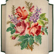 Vintage Embroidery - Roses Flowers and Leaves — Stockfoto