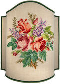 Vintage Embroidery - Roses Flowers and Leaves — Stock Photo