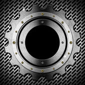 Gear - Gray Metal Porthole — Stock Photo