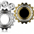 Industrial Gears Background — Stockfoto