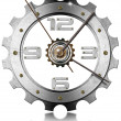 Gear Metallic Clock — Stock Photo