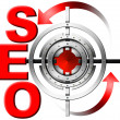SEO Metal Target — Stock Photo