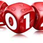 Dice 2014 Happy New Year — Stock Photo #25148011