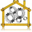 House Gears - Wood Meter Tool — Foto Stock