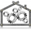 Royalty-Free Stock Photo: House Gears - Metal Meter Tool