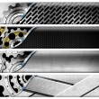 Four Industrial Metal Headers — Stock Photo