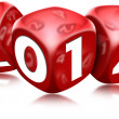 Stock Photo: Dice 2014 Happy New Year