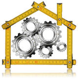 House Gears - Wood Meter Tool — Foto de Stock