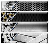 Four Industrial Metal Headers — Stock Photo