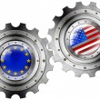 USand Europe Flags on Gears — Stock Photo #25239955