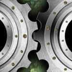 Metal Gears Industrial Template — Stock Photo