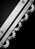 Gears Industrial Metal Template — ストック写真